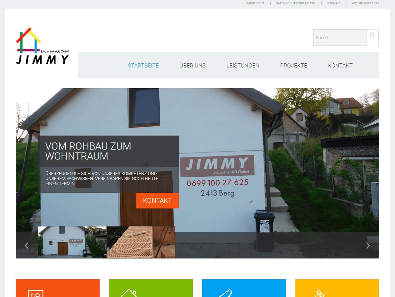 jimmybau.at Screenshot