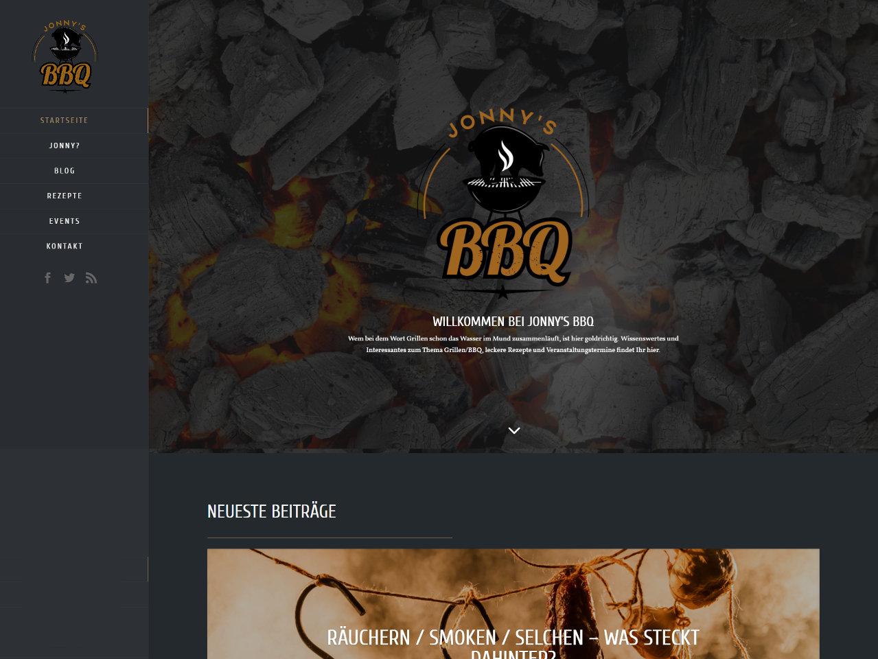 Website Jonny's BBQ